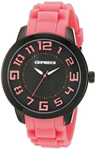 CEPHEUS Damen-Armbanduhr XL Analog Quarz Silikon CP604-624