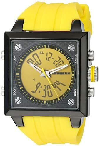 CEPHEUS Herren-Armbanduhr Analog Digital Quarz Silikon CP900-690B