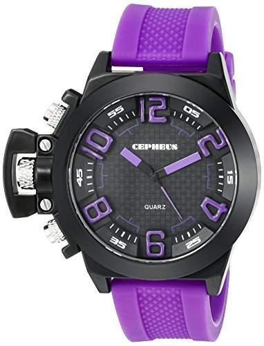 CEPHEUS Herren-Armbanduhr XL Analog Quarz Silikon CP901-620