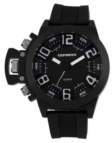 CEPHEUS Herren-Armbanduhr XL Analog Quarz Silikon CP901-622A