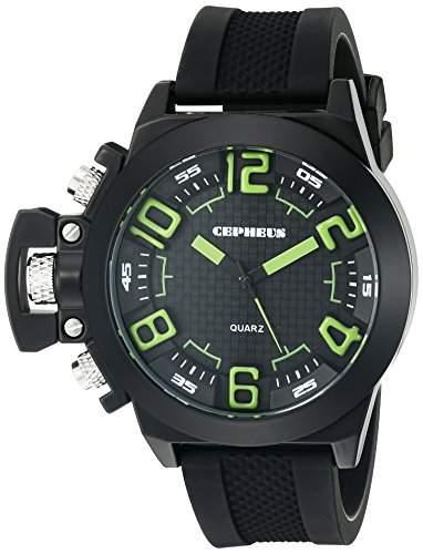 CEPHEUS Herren-Armbanduhr XL Analog Quarz Silikon CP901-622D
