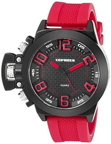 CEPHEUS Herren-Armbanduhr XL Analog Quarz Silikon CP901-624