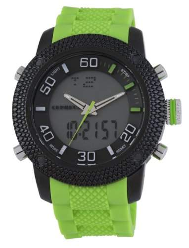 CEPHEUS Herren-Armbanduhr XL Analog - Digital Quarz Silikon CP903-620A