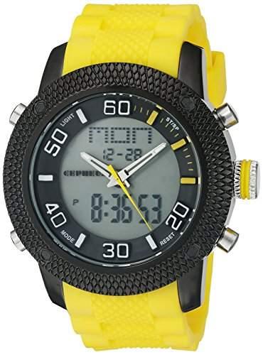 CEPHEUS Herren-Armbanduhr XL Analog - Digital Quarz Silikon CP903-620B