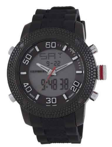 CEPHEUS Herren-Armbanduhr XL Analog - Digital Quarz Silikon CP903-622