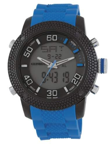 CEPHEUS Herren-Armbanduhr XL Analog - Digital Quarz Silikon CP903-623