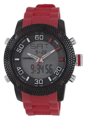 CEPHEUS Herren-Armbanduhr XL Analog - Digital Quarz Silikon CP903-624