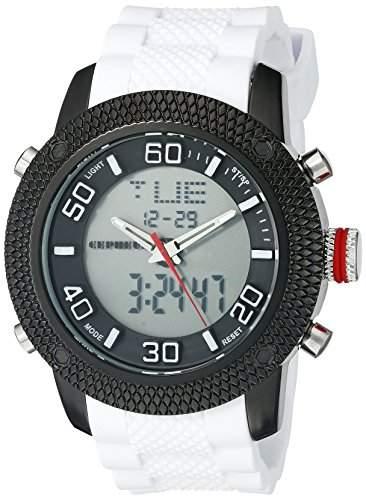 CEPHEUS Herren-Armbanduhr XL Analog - Digital Quarz Silikon CP903-626