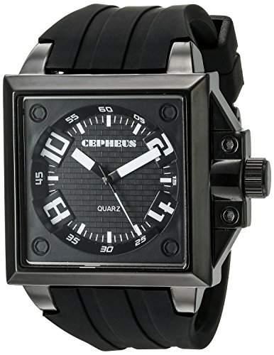 CEPHEUS Herren-Armbanduhr Analog Quarz Silikon CP904-622