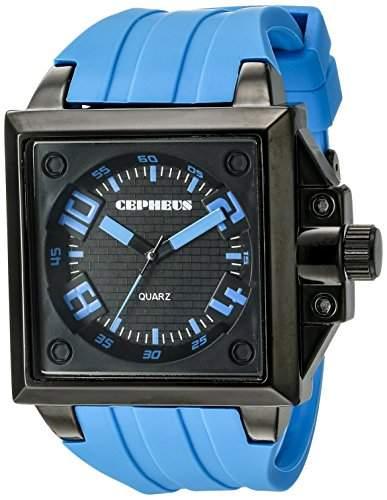 CEPHEUS Herren-Armbanduhr Analog Quarz Silikon CP904-623