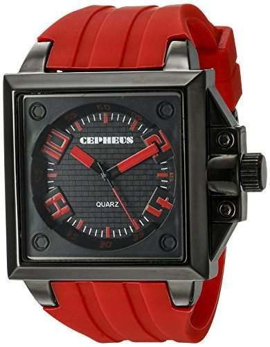CEPHEUS Herren-Armbanduhr Analog Quarz Silikon CP904-624