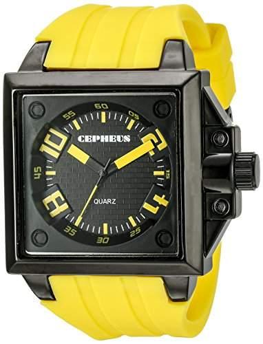 CEPHEUS Herren-Armbanduhr Analog Quarz Silikon CP904-629B