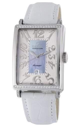 Gevril Damen-Armbanduhr Avenue of Americas Glamour Analog Automatik Leder Blau 6207NT1