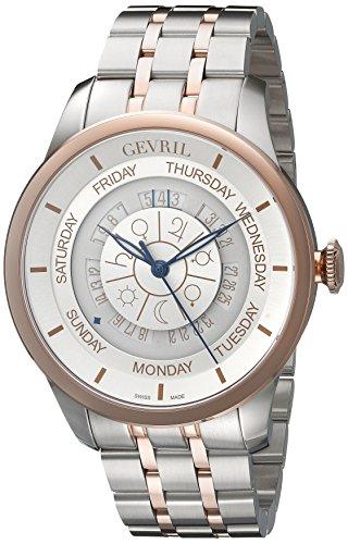 Gevril Herren 2003B Columbus Circle Analog Display Automatische selbst wind Zwei Ton Armbanduhr