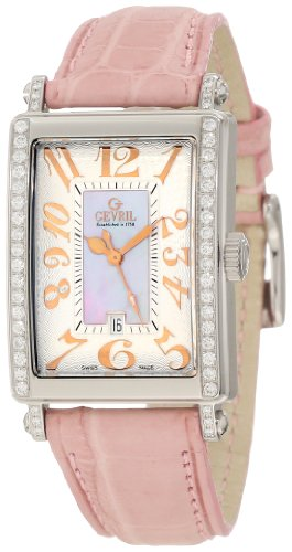 Gevril Damen 7248RE Mini Quartz Avenue of Americas Pink Diamond ansehen
