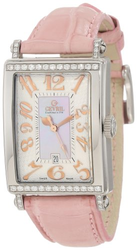 Gevril Damen 7248RT Avenue of Americas Pink Diamond Uhr