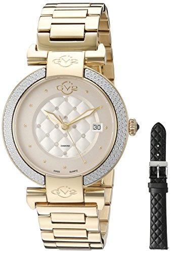 GV2 by Gevril Damen 1502 berletta Analog Display Swiss Quarz Gold Armbanduhr