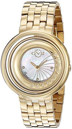 GV2 by Gevril Damen 1602 Vittorio Analog Display Swiss Quarz Gold Armbanduhr