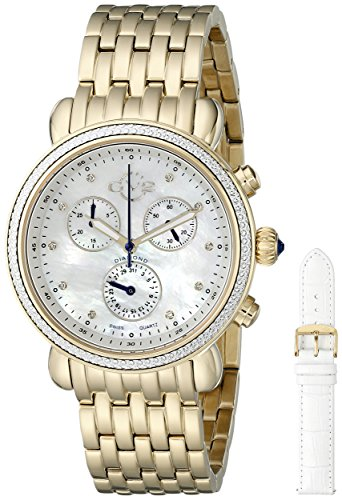 GV2 by Gevril Damen Tapete zum Marsala 9802 Analog Display Swiss Quartz Gold Watch Set
