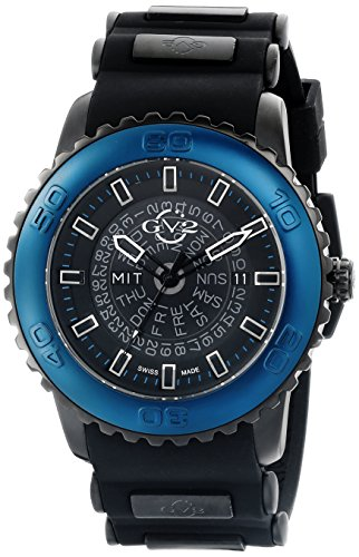 GV2 by Gevril Herren 9703 Aurora Analog Display Quartz Black Watch