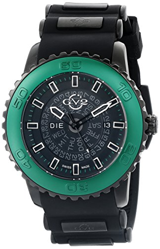 GV2 by Gevril Herren 9705 Aurora Analog Display Quartz Black Watch