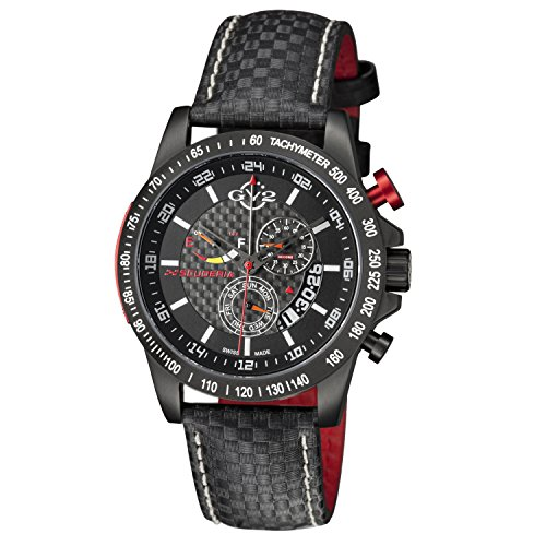 GV2 by Gevril Herren 9900 Scuderia Analog Display Swiss Quartz Black Watch