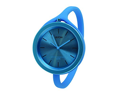 Lexon lm132b Take Time Armbanduhr Quarz Analog Zifferblatt Blau Armband Silikon Blau