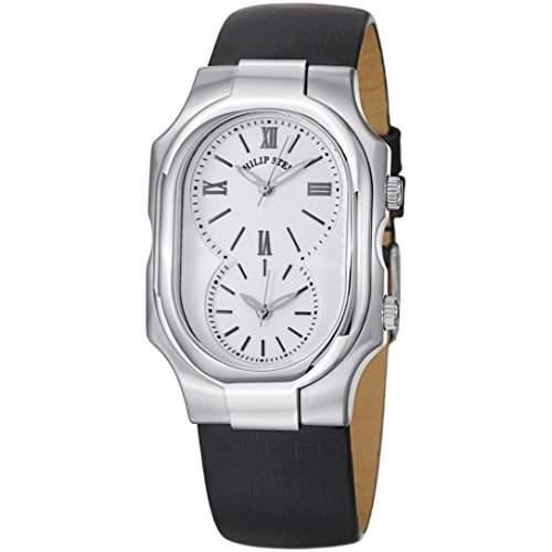 Philip Stein Signature Damen Schwarz Satin Armband Saphirglas Uhr 2-NCW-IB