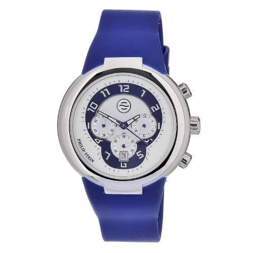 Philip Stein-32-an-rn-Armbanduhr-Quarz Analog-Zifferblatt Blau Armband Silikon Blau