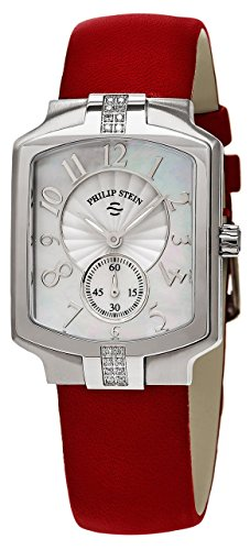 Philip Stein Classic 28mm Armband Leder Gehaeuse Edelstahl Schweizer Quarz 21SD FMOP CIDR