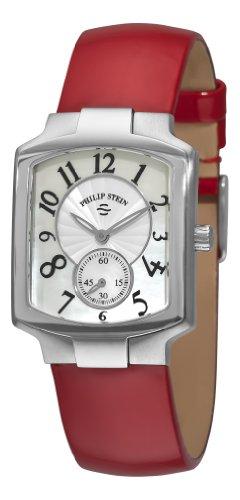 Philip Stein Signature Classic Damen Rot Leder Armband Saphirglas Uhr 21 FMOP LR