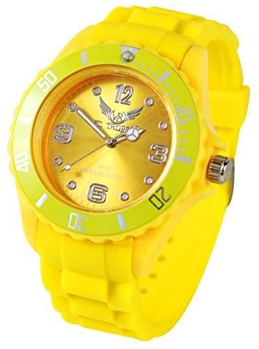 Modische V8 Armbanduhr Gelb
