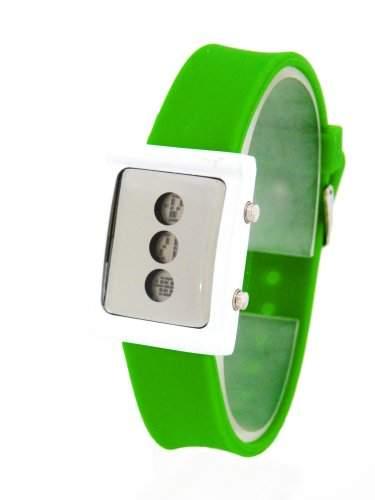 BU67 NERD® Ninja Digital Uhr fuer Herren $ Damen Gruen