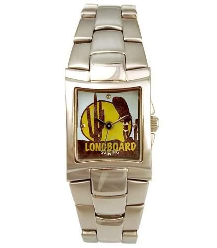 Longboard 6071622 Edelstahl Damen Armbanduhr