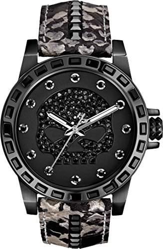 Harley Davidson Damen-Armbanduhr Analog Quarz Leder 78L116