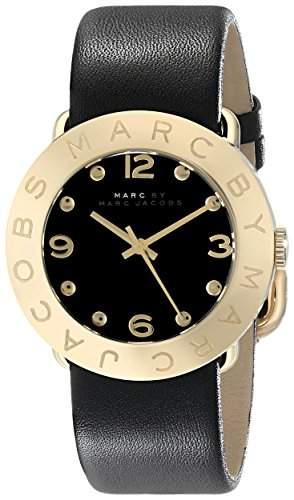 Marc Jacobs Damen-Armbanduhr Analog Quarz Leder MBM1154