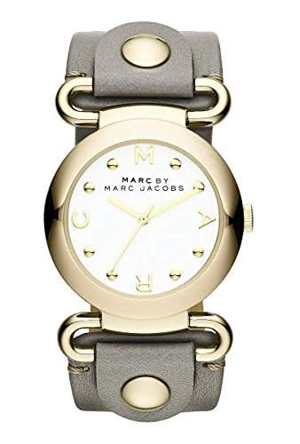 Marc Jacobs Damen-Armbanduhr Analog Quarz Leder MBM1303