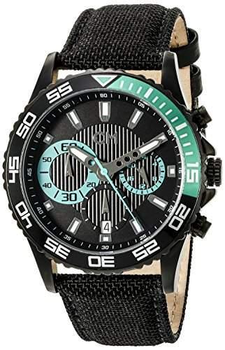Carlo Monti Herren-Armbanduhr XL Avellino Chronograph Quarz Textil CM509-622