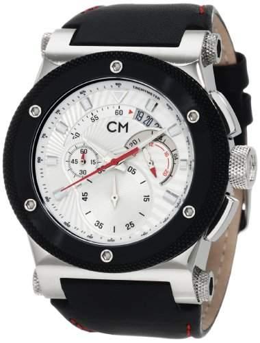 Carlo Monti Herren-Armbanduhr StahlsilberLeder CM701-112