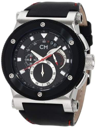 Carlo Monti Herren-Armbanduhr StahlschwarzLeder CM701-122