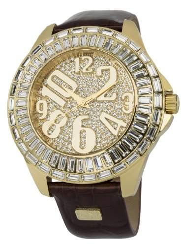 Carlo Monti Damen-Armbanduhr XL Andria Analog Quarz Leder CMY01-275