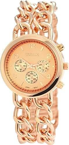 Excellanc Damen-Armbanduhr Analog Quarz verschiedene Materialien 150835500021