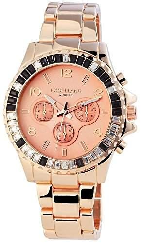 Excellanc Damen-Armbanduhr Analog Quarz Edelstahl 152435600040