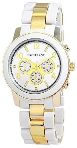 Excellanc Damen-Armbanduhr Analog Quarz verschiedene Materialien 180502500029