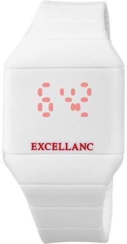 Excellanc Unisex watch Uhr Armbanduhr mit Silikonarmband Weiss 201762000000