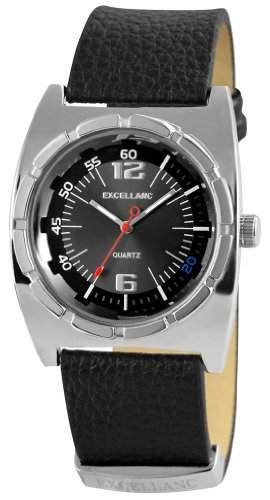 Excellanc Herren-Armbanduhr Analog Quarz Leder 295021000095