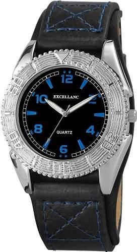 Excellanc Herren-Armbanduhr XL Analog Quarz Leder 295021100110