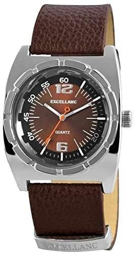 Excellanc Herren-Armbanduhr Analog Quarz Leder 295027000095