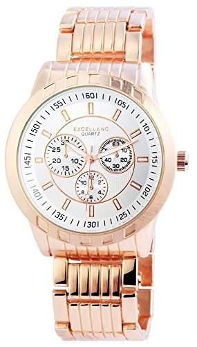 Excellanc Herren-Armbanduhr Analog Quarz verschiedene Materialien 295132500006