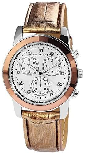 Excellanc Damen-Armbanduhr Analog Quarz verschiedene Materialien 195022600166